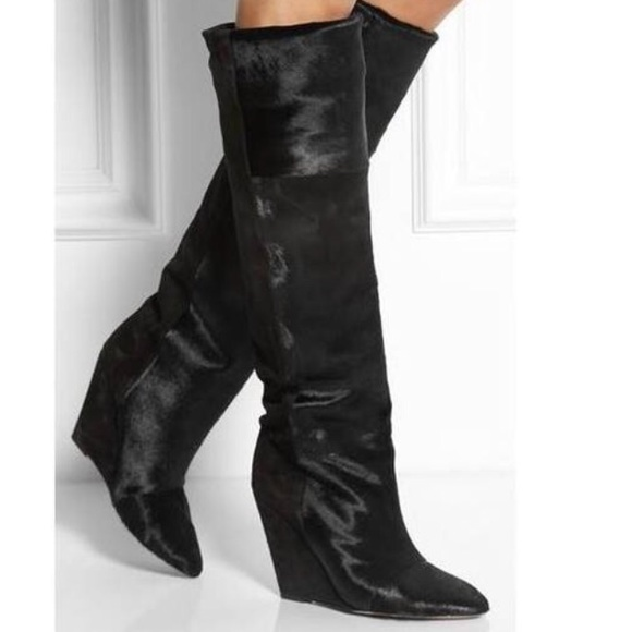 d06f0a626a9 Isabel Marant Sheila Pony   Suede Knee High Boot